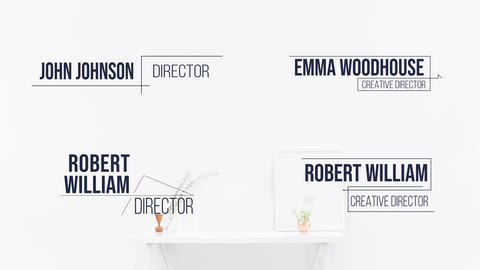 Corporate Minimal Lower Third Pack Motion Graphics Template