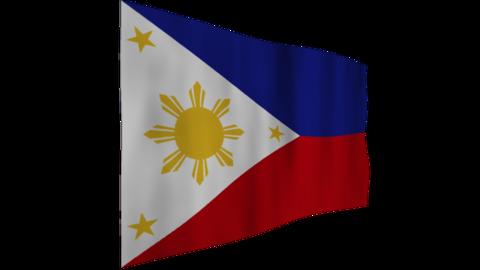 フィリピンの国旗 背景はアルファチャンネル(透明)です。 CG動画