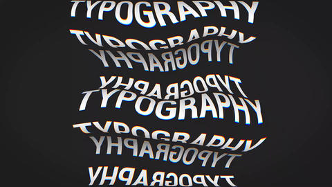 Chaotic Typography After Effects Template