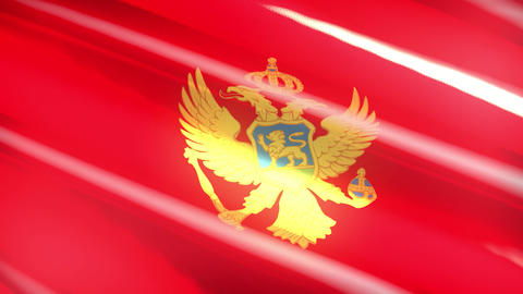 Montenegro holiday flag - loop animation Animation