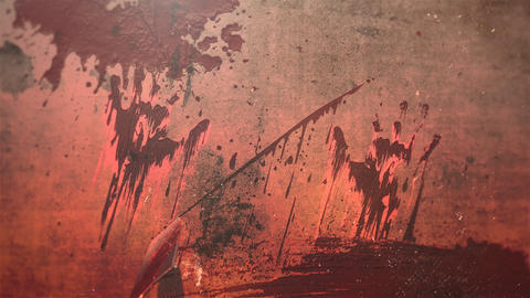 Animation mystical horror background with dark blood, abstract backdrop Animation