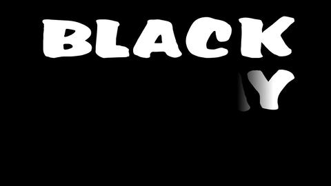 Black Friday sale advertising clip. Animated inscription... Stock Video Footage
