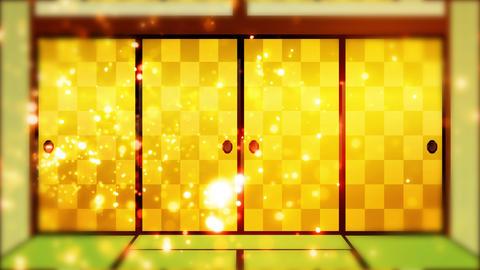 Japanese house style sliding door open loop animation Animation