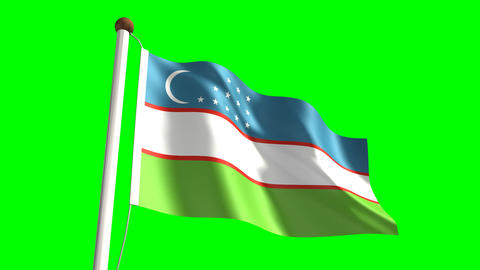 Uzbekistan flag Animation