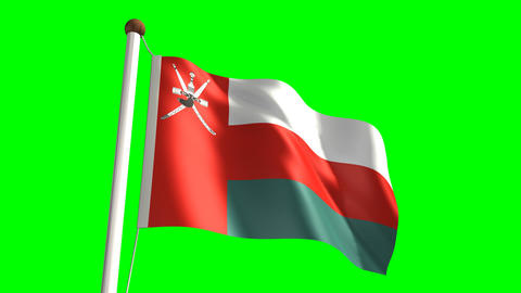 Oman flag Stock Video Footage