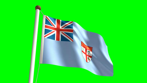 Fiji Flag stock footage