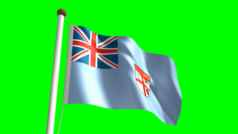 Fiji flag Stock Video Footage