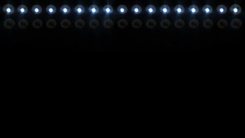 Floodlights flashing 2 Stock Video Footage