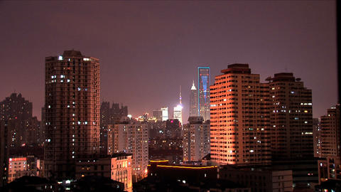 Shanghai Downtown City stock footage