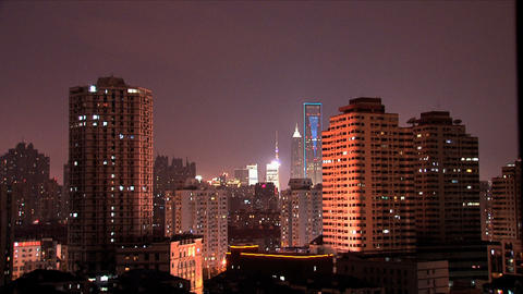 Shanghai downtown city Stock Video Footage