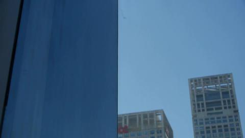 closeup skyscraper glass windows,business building Stock Video Footage