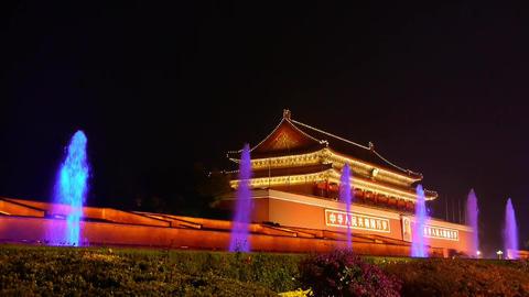 Forbidden City in Beijing China,Tiananmen & fountain... Stock Video Footage