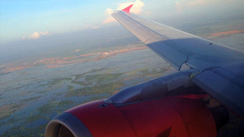 Air Asia Arriving in Phnom penh, Cambodia Footage