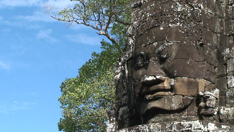 angkor wat face Stock Video Footage