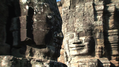 Ankor wat face 02 Stock Video Footage