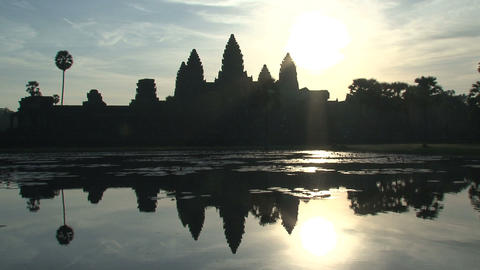 Ankor wat reflextion wide Stock Video Footage