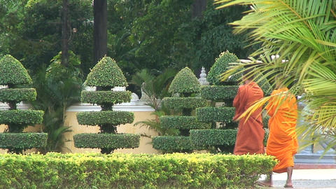 monks Stock Video Footage