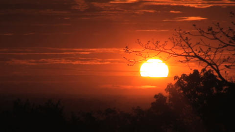 sunset angkor wat Stock Video Footage