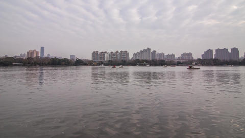 Boating on a Lake Stock Video Footage
