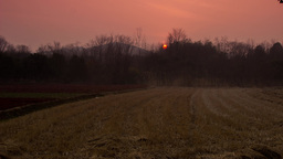 Field Sunset Time Lapse Stock Video Footage