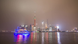 Shanghai Pudong Day to Night Time Lapse Footage