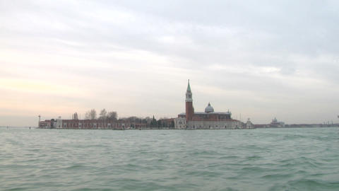 san giorgio island 01 Stock Video Footage