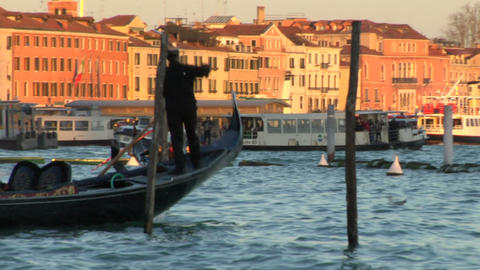 venice gondola 04 e Stock Video Footage