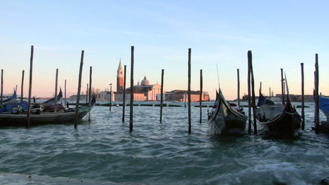 venice gondola 06 Stock Video Footage