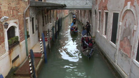 venice gondola 12 e Stock Video Footage