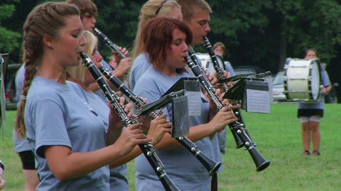 Band Playing Clarinets Stock Video Footage