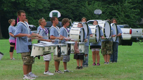 Band Playing Drums Stock Video Footage