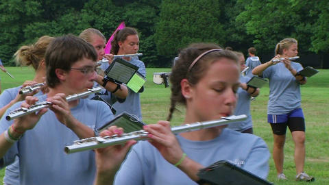 Band Playing Flutes Footage