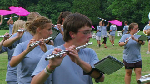Band Playing Flutes Stock Video Footage