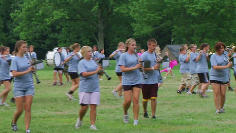 Marching Band Performs 02 Stock Video Footage