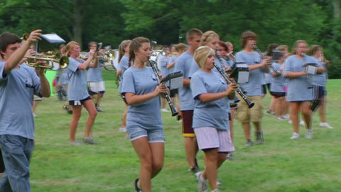 Marching Band Performs 02 Footage