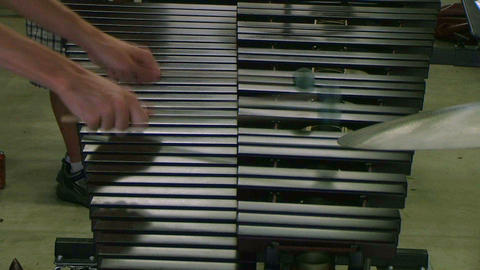 Student Playing Xylophone Stock Video Footage