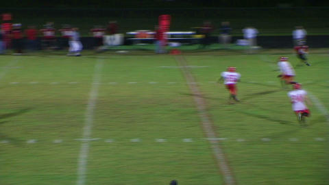 Player Intercepts Football 03 Stock Video Footage