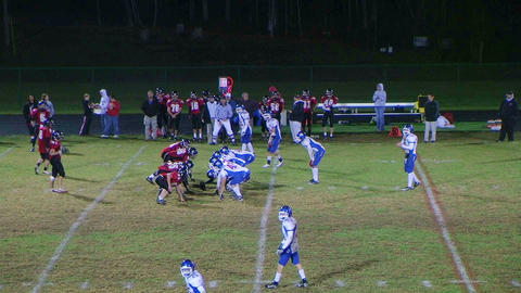 Player Intercepts Football 05 Stock Video Footage