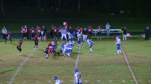 Player Intercepts Football 05 Footage