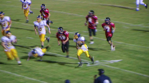 Football Interception For Touchdown Stock Video Footage