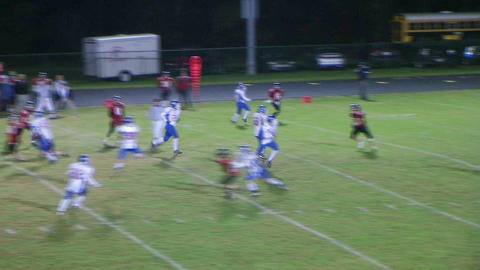 Quarterback Touchdown Pass 02 Stock Video Footage