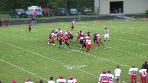 Player Runs Football 04 Footage