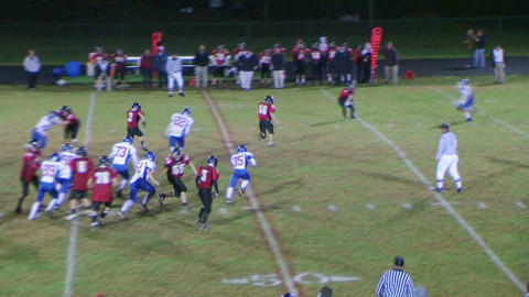 Player Runs Football Stock Video Footage