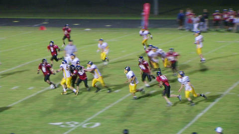 Player Scores Touchdown 02 Stock Video Footage