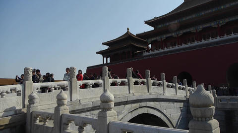 Forbidden City & tourist,China's royal ancient architecture Footage
