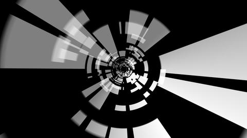 digital tunnel rotating with alpha Stock Video Footage