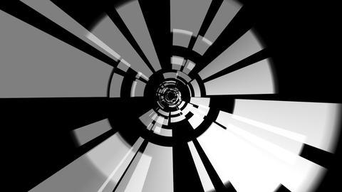 digital tunnel rotating with alpha Animation