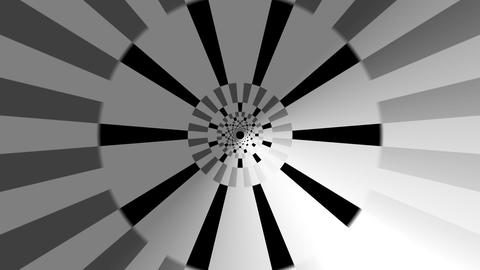 hypnotize ray tunnel with alpha Stock Video Footage