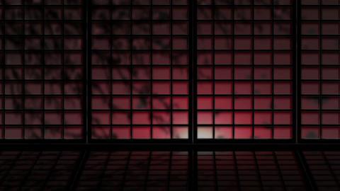 Japanese Window 2522 Stock Video Footage
