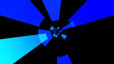blue solid tunnel with alpha Stock Video Footage